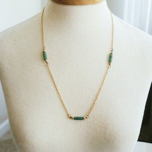 Gold & Jade Necklace
